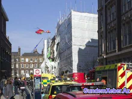 Londonda bina uçub, xəsarət alan var