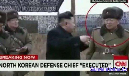 Şimali Koreyanın müdafiə nazirinin edam görüntüsü yayılıb - VİDEO (+18)