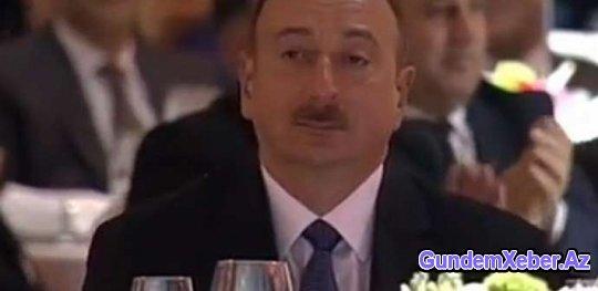 Nazirin sürprizi prezident İlham Əliyevi kövrəltdi (VİDEO)