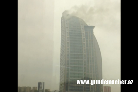 "SON DƏQİQƏ – ""Trump Tower Baku"" yanır – VİDEO"