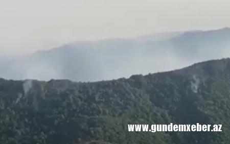 Xocavənddə ermənilərin minaladığı ərazidə yanğın - Video
