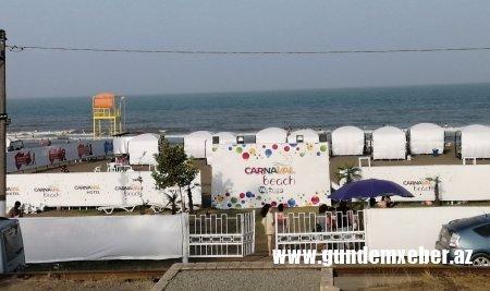 """Lənkərandakı """"Carnaval-beach"""" çimərliyində ƏCAİB QAYDALAR... - Özbaşına qalanda BELƏ OLUR..."""