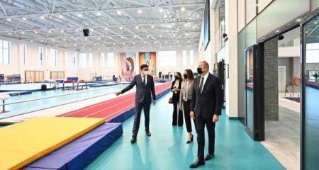 Prezident Milli Gimnastika Arenasının yeni məşq binasında yaradılan şəraitlə tanış olub - Yenilənib