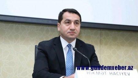 """Hikmət Hacıyev: """"Erməni faşizminin məhv edilməsi..."""""""