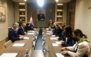 Azərbaycan və Xorvatiya XİN başçılarının görüşü başa çatıb